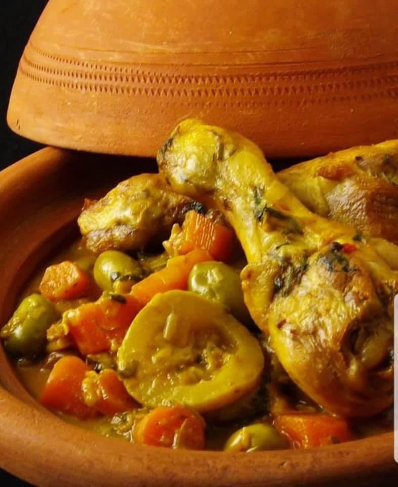 Tajine de poulet aux courgettes